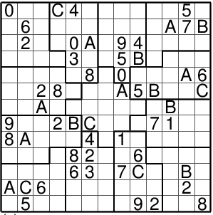 graphic about Sudoku 16x16 Printable identified as PSudoku -- Sudoku developed in just PostScript (PS) layout